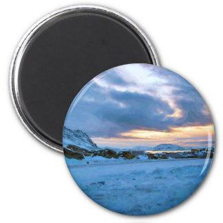 Cielo Sun del hielo de la roca de Ozborne Imán Redondo 5 Cm