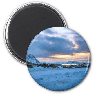 Cielo Sun del hielo de la roca de Ozborne Whilliam Imán Redondo 5 Cm