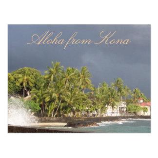Cielo tempestuoso de Hawaii en la isla Postal