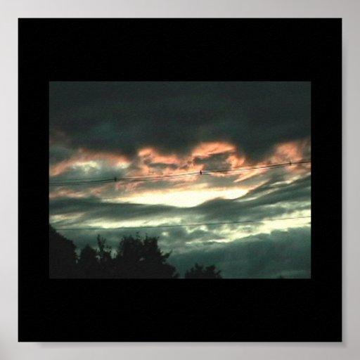 Cielo tempestuoso de la tarde poster