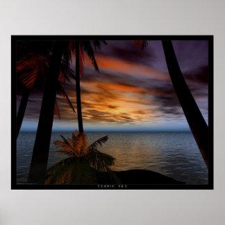 Cielo tropical póster