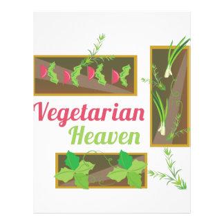 Cielo vegetariano membrete