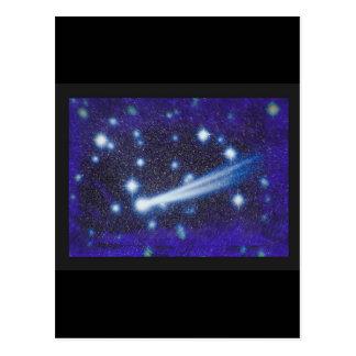Cielo y asteroide estrellados del espacio tarjetas postales