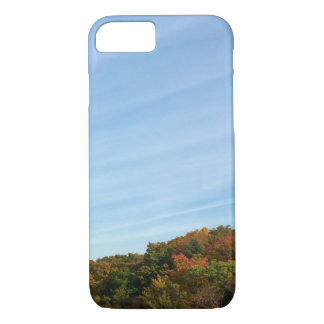 Cielo y follaje de otoño grandes funda iPhone 7