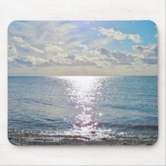 Cielo y foto del océano alfombrilla de ratón