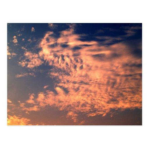 cielo y nube/puesta del sol tarjetas postales