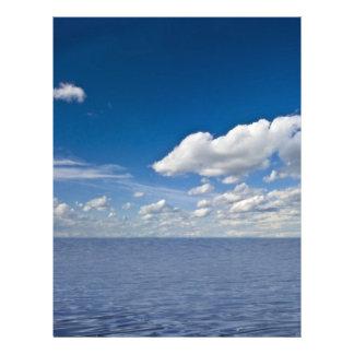 cielo y ondas membrete