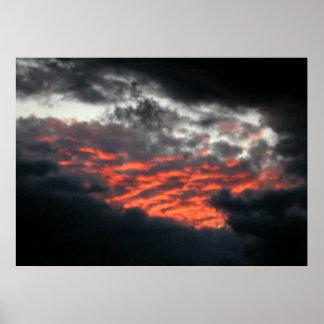 Cielos Afire Puesta del sol - poster 1