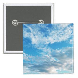 Cielos azules en Boothbay botón del cuadrado de 2 Pin Cuadrado