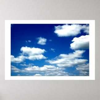Cielos azules impresiones