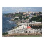 Cielos azules sobre San Juan, Puerto Rico Tarjeta Postal