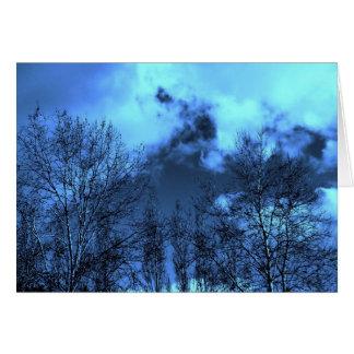 Cielos azules tarjeta de felicitación