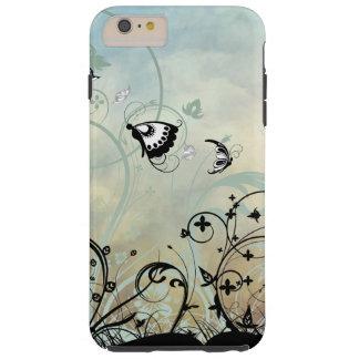 Cielos azules y mariposas funda de iPhone 6 plus tough