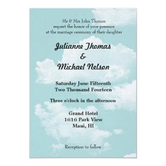 Cielos azules y nubes invitación 12,7 x 17,8 cm