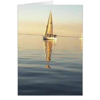 Cielos claros y mares tranquilos tarjeta pequeña