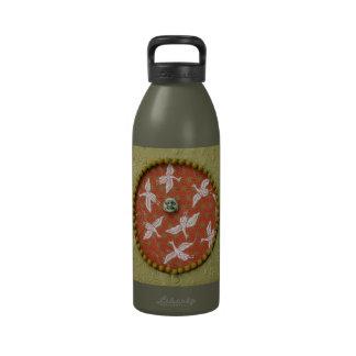 Cielos de la grúa - collage botella de beber