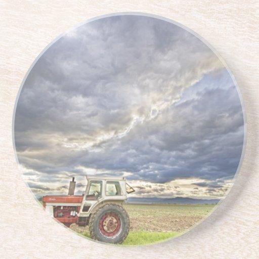 Cielos de la tarde del país del tractor de Turbo Posavasos Manualidades