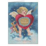 Cielos de las nubes de estrellas de la flecha del tarjeta de felicitación