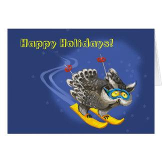 Cielos del búho tarjeta de felicitación
