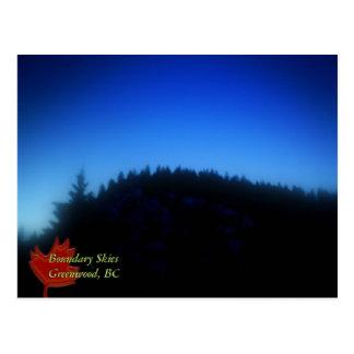 Cielos del límite, Bosque verde, A.C. Tarjetas Postales