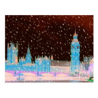Cielos del rojo de Londres de la abadía de Big Ben Postal