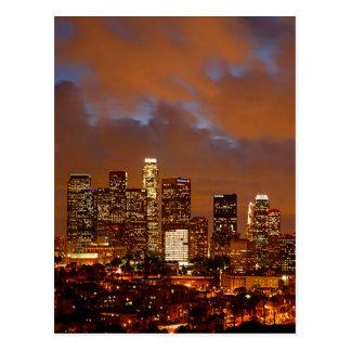 Cielos del rojo de Los Ángeles Postal
