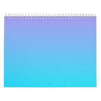 Cielos en colores pastel calendario