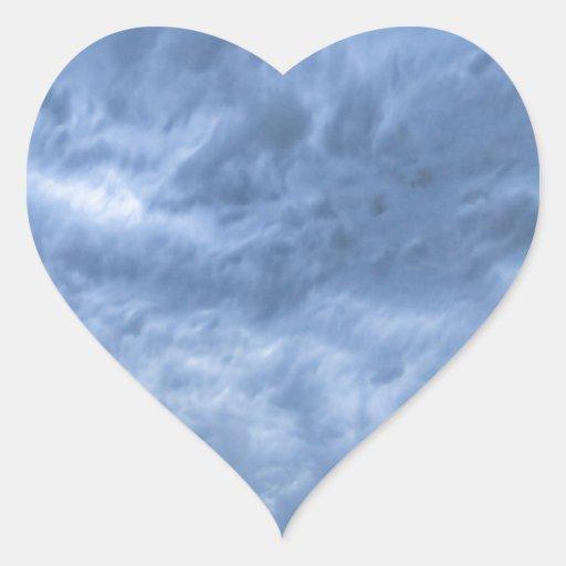 Cielos enojados calcomanías de corazones personalizadas