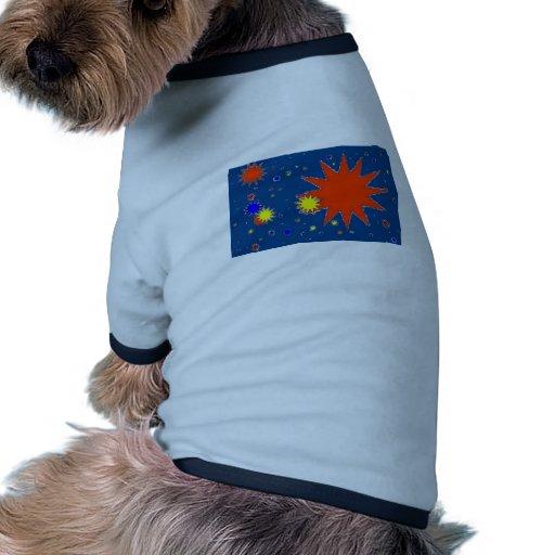 Cielos estrellados camiseta con mangas para perro