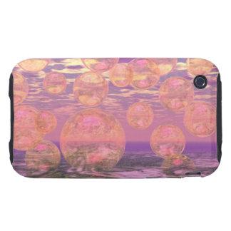 Cielos gloriosos - rosados y sueño amarillo iPhone 3 tough fundas