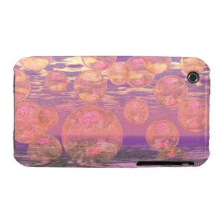 Cielos gloriosos - rosados y sueño amarillo Case-Mate iPhone 3 carcasas