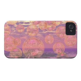 Cielos gloriosos - rosados y sueño amarillo funda para iPhone 4 de Case-Mate
