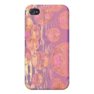 Cielos gloriosos - rosados y sueño amarillo iPhone 4 carcasa