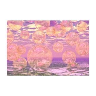 Cielos gloriosos - rosados y sueño amarillo impresiones de lienzo