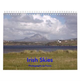 Cielos irlandeses calendarios de pared