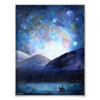 Cielos nocturnos - impresión ilustrada del arte fotografía