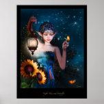 Cielos nocturnos y Butterflys Poster