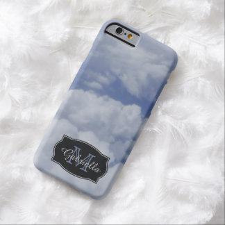 Cielos nublados personalizados: caso del iPhone 6 Funda De iPhone 6 Barely There