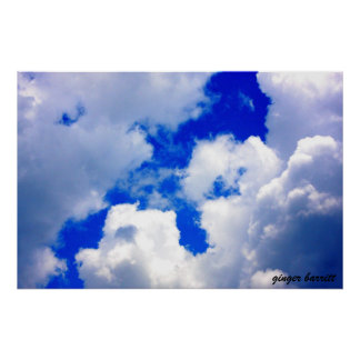 Cielos nublados por el barritt del jengibre impresiones