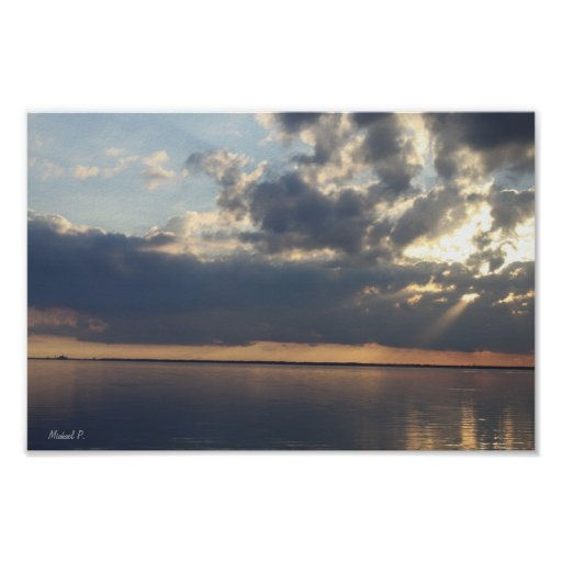 Cielos tempestuosos de la Costa del Golfo de la Fl Posters