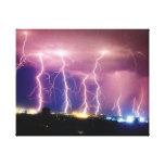 Cielos tempestuosos lona envuelta para galerias