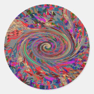 Cielos y mares de la evolución de la revolución de etiqueta redonda