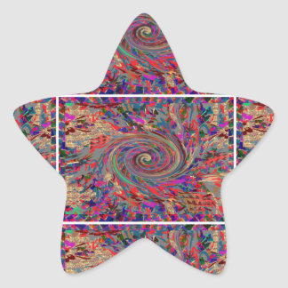 Cielos y mares de la evolución de la revolución de calcomanías forma de estrellaes personalizadas