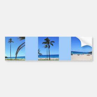 Cielos y palmera hawaianos azules pegatina para auto