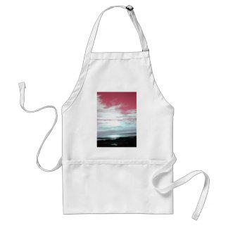 Cielos y playa del rosa de la costa de Labrador Delantales