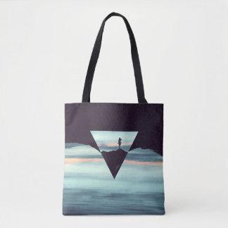 Cielos y tierra introvertidos bolsa de tela