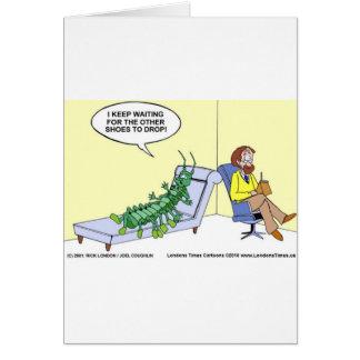 Ciempiés en las tazas divertidas etc de las camise tarjeta de felicitación