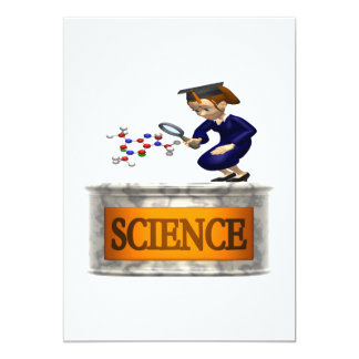 """Ciencia 2 invitación 5"""" x 7"""""""