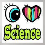 Ciencia brillante del amor del corazón I del ojo Posters