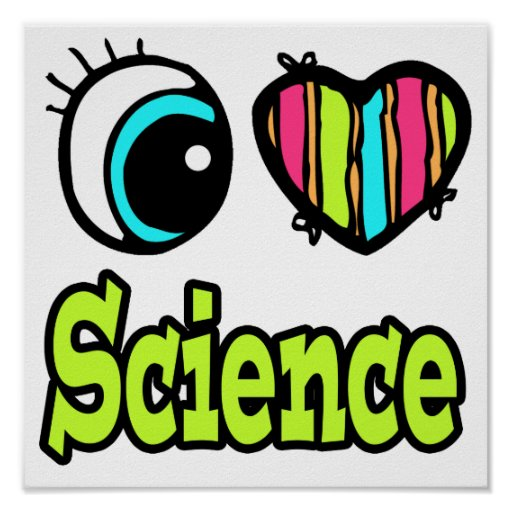 Ciencia brillante del amor del corazón I del ojo Póster